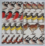 4 Ceramic Coasters in Emma Bridgewater British Birds